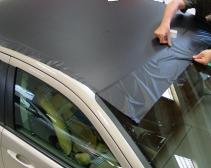 Dachvollverklebung schwarz,matt